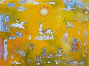 Sale 8286 - Lot 557 - Tim Johnson (1947 - ) - Kasuga Deer, 2005 46.5 x 61cm