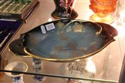 Sale 8314 - Lot 18 - Carlton Ware Bleu Royale Gilded Bowl
