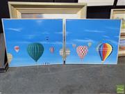 Sale 8407T - Lot 2033 - Ashley Parker (XX) - Balloons, 1992 (diptych) 49 x 59cm, each