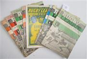 Sale 8418S - Lot 12 - RUGBY LEAGUE NEWS 1964 Vol 45 Nos. 8, 10, 12, 21, 23 (Australia v France Third Test), 24, 25, 27, 28, 29, 30