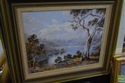 Sale 8497 - Lot 2028 - Judith Nicholls, Countryscape signed lower right