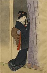 Sale 8696A - Lot 5049 - Artist Unknown - Geisha 39 x 25cm