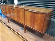Sale 8839 - Lot 1045 - Quality McIntosh Rosewood Sideboard with Three Drawers, Two Doors and Drop Front Section (H: 75.5 W: 213.5 D: 49cm)