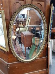 Sale 8740 - Lot 1056 - Gilt Framed Oval Mirror