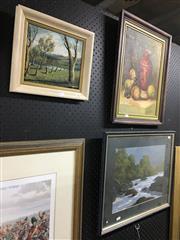 Sale 8750 - Lot 2063 - 4 Works: Artists Unknown - Landscape, Coastal Scene, River Scene, Still Life