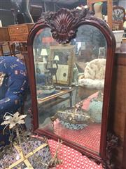 Sale 8822 - Lot 1760 - Mahogany Framed Bevelled Edge Mirror