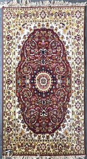 Sale 8822 - Lot 1204 - Red and Cream Tone Persian Rug (200 x 125cm)
