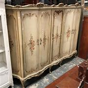 Sale 8822 - Lot 1882 - Large French Style Hand Painted Wardrobe with Five Doors - 225