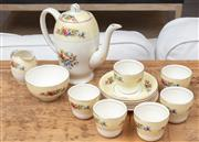 Sale 9023H - Lot 34 - A English bone china coffee set for six.  (slight hairline to cup)
