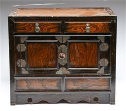 Sale 9093P - Lot 18 - Small Korean Elm Two Door Cabinet