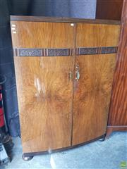 Sale 8601 - Lot 1196 - Art Deco Two Door Tall Boy