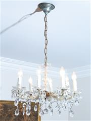 Sale 8414A - Lot 24 - An eight branch Venetian chandelier, approx. D 40cm
