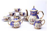 Sale 8694 - Lot 64 - Blue and Gilt Glaze Bavarian Tea Service