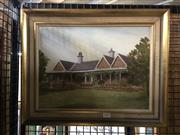 Sale 8753 - Lot 2082 - Max Boyd - The Bungalow - Victoria Barracks, Paddington NSW oil on canvas, signed lower right