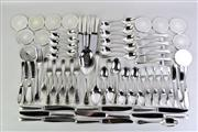 Sale 8935 - Lot 94 - Christofle Perles Silverplate Cutlery Setting with Serving Spoons for Eight Persons