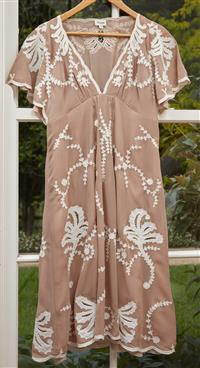Sale 9090H - Lot 99 - A Temperley (London) dress, in brown and cream size UK12