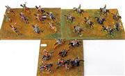 Sale 8330T - Lot 96 - Three Battlefield Boards of Lead Cavalry Soldiers; handpainted.