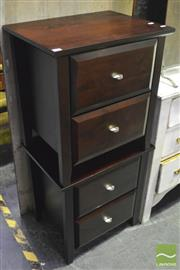 Sale 8368 - Lot 1099 - Pair of 2 Drawer Bedside Cabinets