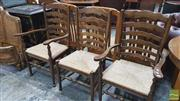 Sale 8390 - Lot 1573 - Set of 3 French Oak Dining Chairs