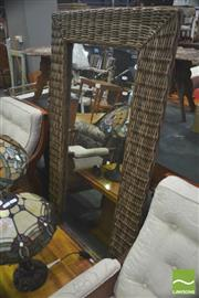 Sale 8406 - Lot 1056 - Wicker Frame Mirror