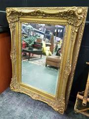 Sale 8462 - Lot 1003 - Ornate Gilt Framed Bevelled Edge Rectangular Mirror