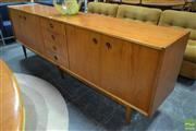 Sale 8511 - Lot 1024 - Parker Sideboard with Four Doors and Cats Eyes Handles