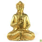 Sale 8589R - Lot 39 - Gilt Timber Buddha Figure (H: 50cm)