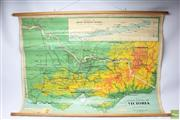 Sale 8644 - Lot 85 - Chas H Scally Vintage School Map of Victoria