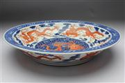 Sale 8662 - Lot 72 - Large Chinese Dragon Charger Yongzheng Mark