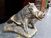 Sale 8760 - Lot 1023 - Composite Statue of a Wild Boar