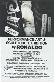 Sale 8766A - Lot 5012 - Ronaldo Cameron - Performance Art & Sculpture Exhibition by Ronaldo lithograph