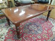 Sale 8822 - Lot 1573 - Mahogany Extension Dining Table with Single Leaf