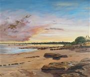Sale 8901A - Lot 5061 - Pamela Griffith (1943- ) - Sultry Evening, Fannie Bay NT 90 x 105 cm