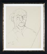 Sale 8961 - Lot 2018 - Desiderius Orban (1884 - 1986) - Self Portrait, 1955 54 x 45 cm (frame: 70 x 61 x 3 cm)