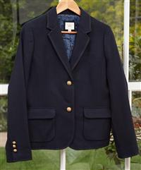 Sale 9090H - Lot 100 - A Brookes Brothers navy wool blazer - size US 8