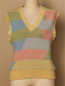 Sale 9093F - Lot 29 - A Vintage Missoni V neck sleeveless Vest with tags colours pastel Size S