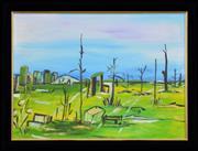 Sale 8309A - Lot 22 - Melita Denaro (1950 - ) - Untitled (Landscape) 52.5 x 72.5cm
