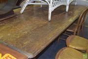 Sale 8390 - Lot 1130 - Large Rustic Table