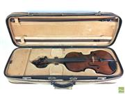 Sale 8648A - Lot 81 - Violin with Bow in EP Voigt Lined Case