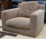 Sale 8746 - Lot 1063 - Pair B & B Itallia Maxalto Harry Armchairs, designed by Antonio Citterio, upholstered in cream fabric