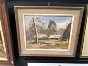 Sale 8865 - Lot 2062 - Nola Tegel - Cottage on Camden Park Estate oil on board, 50 x 42cm (frame), signed -