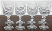 Sale 9081H - Lot 31 - A set of eight white wine glasses by Zweisel.