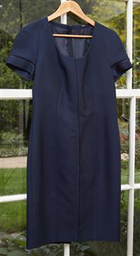 Sale 9090H - Lot 101 - A Hugo Boss Navy dress - size UK12