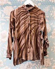 Sale 8474A - Lot 2 - A striking safari Gucci 100% silk blouse; in excellent condition, size: 40
