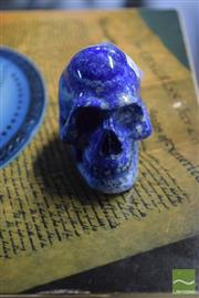 Sale 8518 - Lot 2352 - Lapis Carved Skull