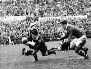 Sale 8754A - Lot 86 - Australian 'Wallabies' vs New Zealand 'All Blacks', 1958 - Firt test game, New Zealand 1958 16 x 21cm