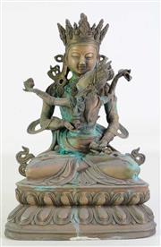 Sale 8926A - Lot 667 - Tibetan Bronze buddha and consort yab yum (H33cm)