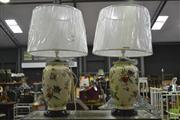 Sale 8361 - Lot 1065 - Pair of Belgian lamps (3470)