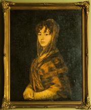 Sale 8418A - Lot 79 - Artist Unknown - Portrait of a Woman 54 x 43cm