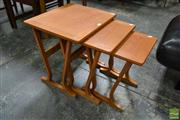 Sale 8511 - Lot 1030 - Parker Knoll Teak Nest of Three Tables